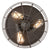 15Inch Industrial 3-Light Vintage Metal Cage Flush Mount Ceiling Light, Oil Rubbed Bronze Finish