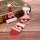 1Pcs Mini Lovely Christmas Stockings Socks New Year Santa Claus Candy Gift Bag Festival Party Supplies