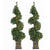 Sterling 3.5Ft. Pre-Lit Potted Spiral Trees (Set of 2)