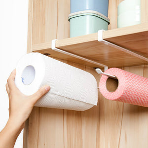 2019 1Pcs Door Hanger Bathroom Napkins Racks High Quality Towel Holder Kitchen Towel Roll Toilet Paper Holder Floating Shelf