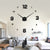 3d Design Living Room Decor Real Big Wall Clock