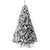 Best Choice Products 9ft Snow Flocked Hinged Artificial Christmas Pine Tree Holiday Decor w/ Metal Stand, Green