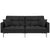 Best Choice Products Tufted Split Back Sofa Bed with Pillows, Black