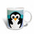 3dRose Christmas Penguin- Cute Whimsical Art, Ceramic Mug, 11-ounce