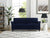 Lifestyle Solutions Hactor Sofa with Upholstered Microfiber Fabric Rolled Arms, Navy