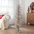 Holiday Time Pre-Lit Silver Tinsel Christmas Tree, 4', Clear