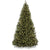 7.5ft Pre-Lit Spruce Hinged Artificial Christmas Tree White Lights, Fold able Stand