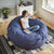 Big Joe Fuf 6' Round Bean Bag Chair, Multiple Colors