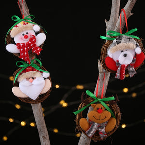 Christmas Decoration Pendants Toy Outside Xmas Tree Hanging Ornament Santa Claus High Capacity Support Wholesale Dropshipping
