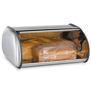 Durable Hard Stainless Steel Dust-proof Toast Bread Bin Kitchen Food Storage Container