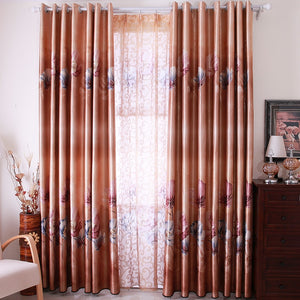 Free Shipping!Upscale atmosphere coffee color duplex printing Curtain.