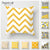 Fuwatacchi Geometric Cushion Covers Yellow And Gray Diamond Wave Pillow Case For Home Chair Sofa Decoration Square Pillowcases