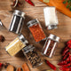 Glass Spice Storage Bottle Shaker Seasoning Jars BBQ Cooking Herbs Container Organizer Kitchen Gadgets Accessories Supplies