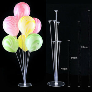 Limit 100 1-Set Column Upright Balloons Display Stand Wedding Party Decor Clear Balloon