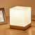 Wooden Modern Led Table Lamps for Living Room Bedroom Bedsides Cafe De Home Decoration Lights Fixture glass lamp shade Luminaire