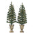 Holiday Time Prelit Bronze Conical Christmas Trees (set of 2), 3.5 ft