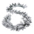 Holiday Time Winter Frost Flocked Pine and Pine Cone Garland, 9'