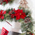 Holiday Time Mixed Pine and Poinsettia Christmas Garland, 9'