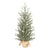 Holiday Time Green Fir Tree with Burlap Base Christmas Decoration, 36