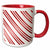 3dRose Christmas Candy Cane Stripe Red and White - Two Tone Red Mug, 11-ounce