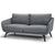Brooklyn + Max Millay Mid Century Modern 78 inch Wide Sofa in Slate Grey Fabric