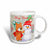 3dRose Cute Bear and Snowman With Christmas Background and Text , Ceramic Mug, 11-ounce