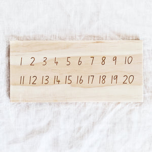 Number Tracing Board and Tens Frame - double sided