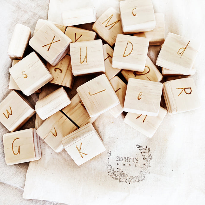 Alphabet Tiles - double sided