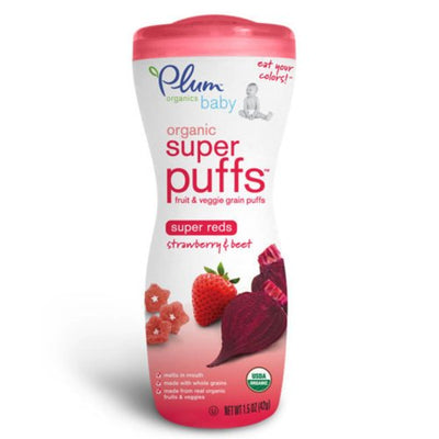 Plum Organics Super Reds, Strawberry & Beet, 1.5-Ounce (Pack of 4)