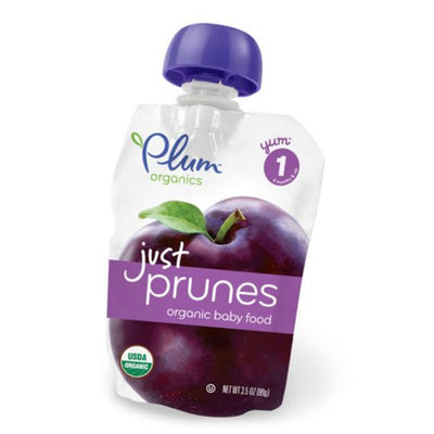 Plum Organics Just Fruit Organic Prunes Stage 1 4 Months and Up, 3.5 Ounce