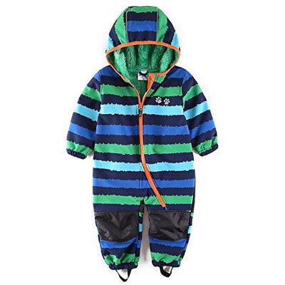 umkaumka Baby Boy Waterproof Coverall All in One Fleece Lining Pram Muddy Play