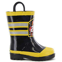 Western Chief Boys Waterproof Printed Rain Boot with Easy Pull On Handles, F.D.U.S.A., 11 M US Little Kid