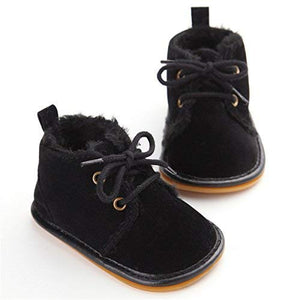 Meckior Winter Newborn Unisex Baby Girls Boys Velvet Rubber Sole Anit-Slip Shoes Prewalker Boots