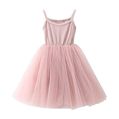 Baby Girls Tutu Dress Sleeveless Infant Toddler Sundress Tulle Bubble 5 Layers