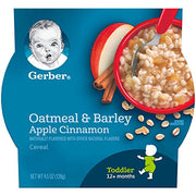 Gerber Oatmeal & Barley - Apple Cinnamon Cereal, 4.5-Ounce (Pack of 8)