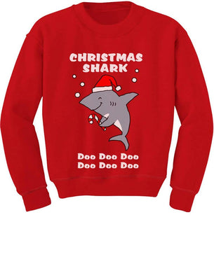 Tstars - Christmas Shark Do Do Do Cute Toddler/Kids Sweatshirt