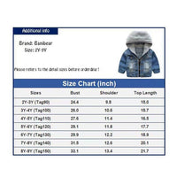 Banibear Boys' Denim Jacket Outerwear, 12M-12 Years