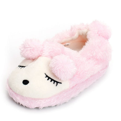 Boys Girls Plush Warm Cute Bunny House Slippers Fuzzy Indoor Bedroom Shoes for Toddler Kids