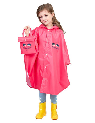 Hibety Kids Raincoat Kids Rain Poncho Lightweight Waterproof Rain Jacket Coat for Girls Boys,Portable Hooded Poncho rain Coat
