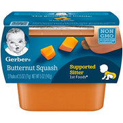 Gerber 1st Foods Squash, 2.5 Ounce Tubs, 2 Count (Pack of 8)