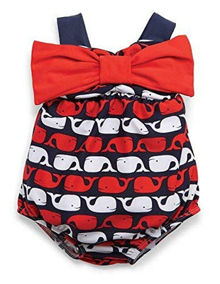 Mud Pie Baby Girls' Whale Swimsuit