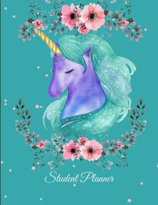 Student Planner: Beauty Unicorn, Kids Daily Planner Large Print 8.5