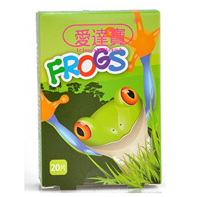 Pack of 60pcs Assorted Breathable Waterproof Cartoon Frogs Adhesive Bandages Hemostasis for Children Kids