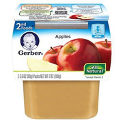 GERBER BABY FOOD 2ND FOODS APPLES (APPLESAUCE) 2 X 2.5 OZ CUPS