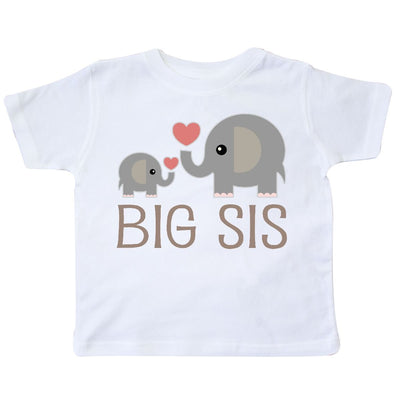 inktastic Big Sis Elephant Toddler T-Shirt