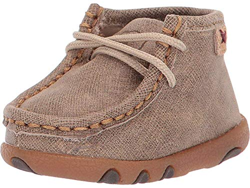 Twisted X Infant Driving Moccasins, Color: Dusty Tan, Size: 2, Width: M (ICA0005-2-M0
