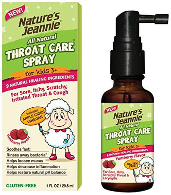 Gargle Away Spray by Nature's Jeannie - Natural Sore Throat Remedy, Vocal Care, Mucus Relief, Cough Suppressant Spray for Kids (Age 3+) and Adults (1 Oz)