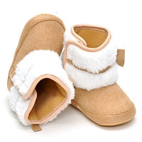 ESTAMICO Baby Girl Plush Winter Snow Bowknot Boots