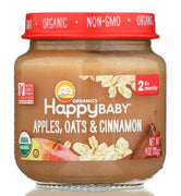 HAPPY BABY Organic Stage 2 Apples Oats & Cinnamon, 4 OZ