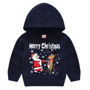 SALNIER Toddler Christmas Sweater Baby Girl Boy Cute Cotton Pullover Hoodie Sweatshirt Long Sleeve Shirt Jacket 12M-6Years